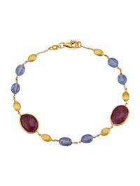 Armband mit Rubinen und Saphiren