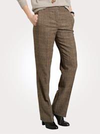 Pantalon avec un motif à carreaux