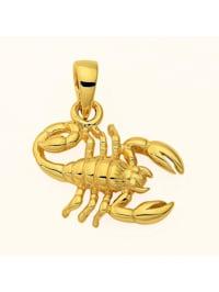 Damen & Herren Goldschmuck 585 Gold Sternzeichen Anhänger Skorpion