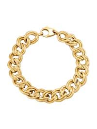 Bracelet maille gourmette en argent 925, doré
