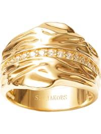 Sif Jakobs Jewellery Damen-Damenring 925er Silber Zirkonia