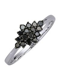 Damenring mit schwarzen Diamanten