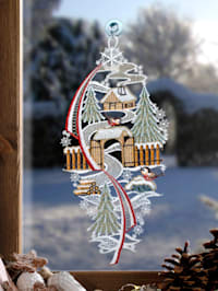 Vindusdekorasjon -Vinterlandskap-
