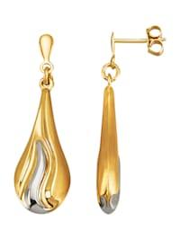 Örhängen i 14 k gult guld