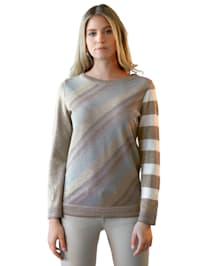 Pullover mit metallisiertem Glanzgarn