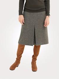 Skirt in a herringbone pattern