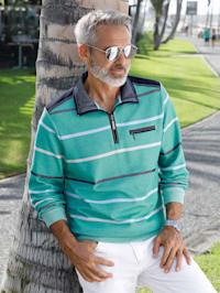 Sweatshirt mit zweifarbigem Streifenmuster