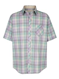 Košeľa s károvaným vzorom z farbeného vlákna
