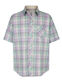 Košile s károvaným vzorem z barvených vláken