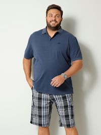Poloshirt met platte kraag