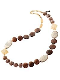 Halskette in naturtönen