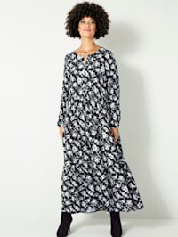 Maxi-jurk met knoopsluiting