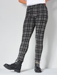 Leggings med rutigt mönster