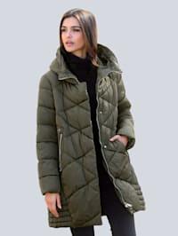 Mantel mit modischem Steppmuster