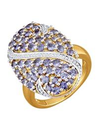Damesring Zilverkleurige ring
