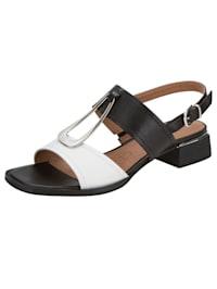 Sandales avec élément fantaisie raffiné