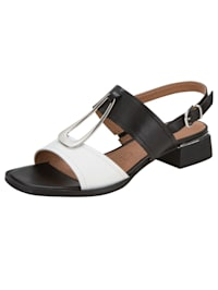 Sandals with elegant buckle detail
