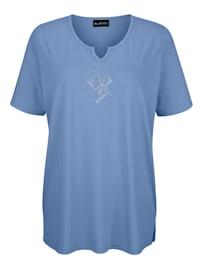Shirt met decoratief steentjesmotief voor