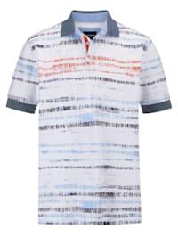 Poloshirt met modieuze print