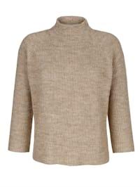 Pulóver v jemnom pletení