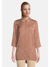 Hemdbluse mit Muster Form