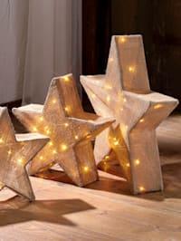 LED-stjärnor, 3 st.