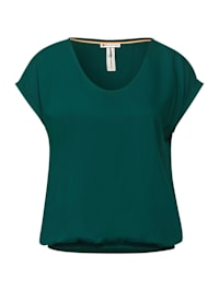 Unifarbene Bluse