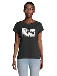 Printshirt mit Rundhalsausschnitt