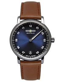 Damen-Armbanduhr New Captain's Line Monotimer Braun/Blau