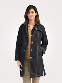 Trench coat made from a cotton blend