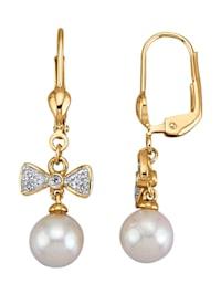Ohrringe mit weißen Akoya-Zuchtperlen