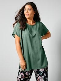 Blusen-Shirt aus reiner Viskose