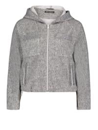 Casual-Jacke mit aufgesetzter Brusttasche Material