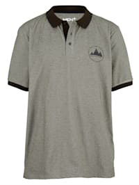 Poloshirt in melierter Optik