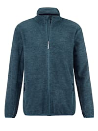 Fleece vest in gemêleerde look