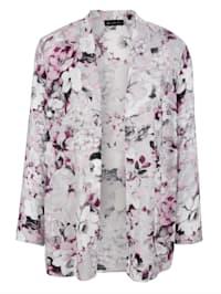 Blusenjacke in floralem Druckdesign