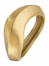 """Ring für Damen, Stainless Steel IP Gold """"Wave"""" von NOELANI"""