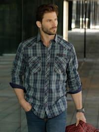 Overhemd in trendy used look
