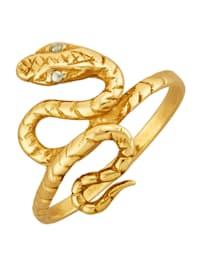 Schlangen-Ring in Silber 925, vergoldet