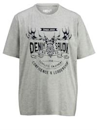 T-shirt i melerat material