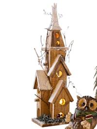 Église en bois à LED