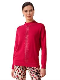 Pullover mit Strassstein-Dekoration
