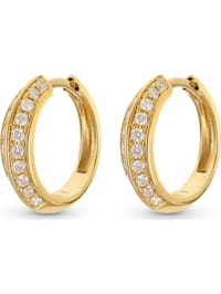 CHRIST Damen-Creolen 585er Gelbgold 40 Diamant