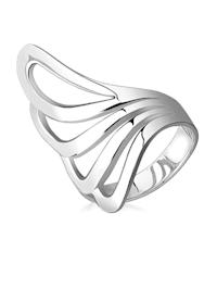 Ring Basic Welle Geo Modern 925 Sterling Silber