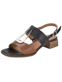 Sandale mit edlem Zierelement