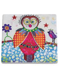 Smily Style Keramikuntersetzer Boobook