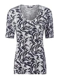 V-Shirt mit Bambus-Print