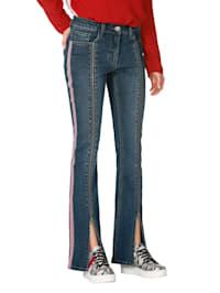 Jeans met gevoerde rits