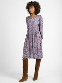 Kleid Arabella Paisley-Print mit leicht gekräuselter elastischer Rockpartie