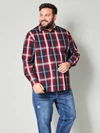 Overhemd met ruitpatroon